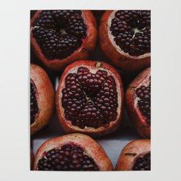 Pomegranates in Israeli Market Poster