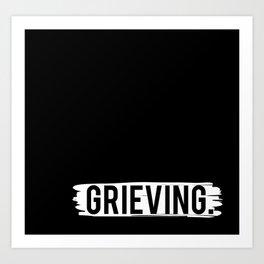 Grieving Art Print