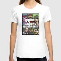 grand theft auto T-shirts featuring Grand Theft Mushroom by Ben Clark