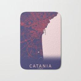Catania, Italy, Blue, White, City, Map Bath Mat