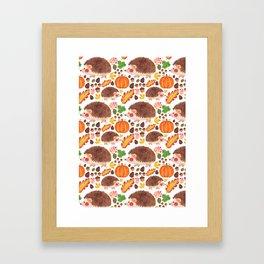 Autumn Hedgehog Framed Art Print