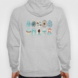 Easter eggs blue colletion Hoody