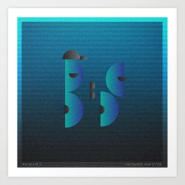 Music in Monogeometry : Belle & Sebastian Art Print