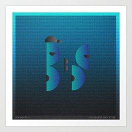 Music in Monogeometry : Belle & Sebastian Art Print