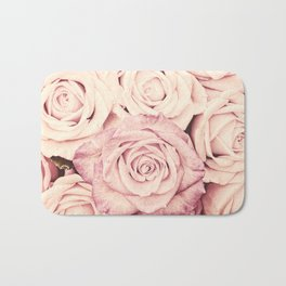 Some people grumble I Floral rose roses flowers pink Bath Mat