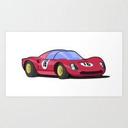 Historic racing car -  Dino 206 SP Art Print