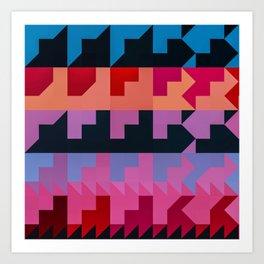 Colorful Geometrical Patterns Design Art Print