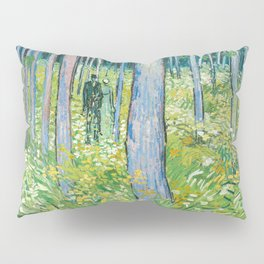 Undergrowth with Two Figures by Vincent van Gogh Pillow Sham