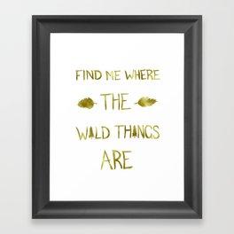 Wild Things - Gold Framed Art Print