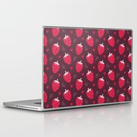 nutella Laptop & iPad Skins featuring STRAWBERRIES AND CHOCOLATE by Daisy Beatrice