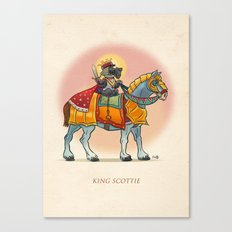 King Scottie Canvas Print