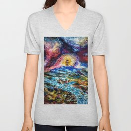 Lighthouse Landscape Unisex V-Neck