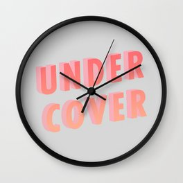 Undercover - Typography Wall Clock