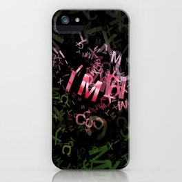 Pink Roses in Anzures 3 Letters 1 iPhone Case