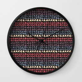 Geometric pattern abstract 1 Wall Clock