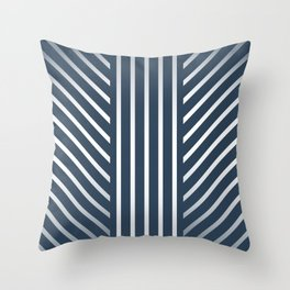 Lined Navy Throw Pillow