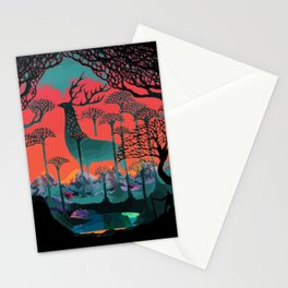 Forest Spirit Deer Woodland Illustration Stationery Cards