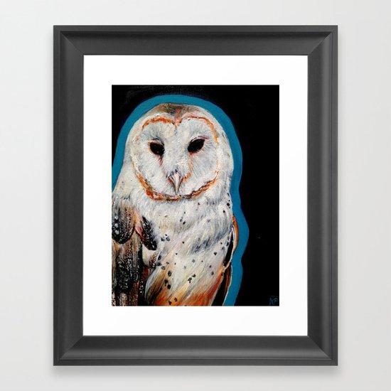 Barn Owl 3 Framed Art Print