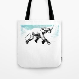 Diving elephant Tote Bag