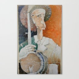Banjo Player 1 Canvas Print