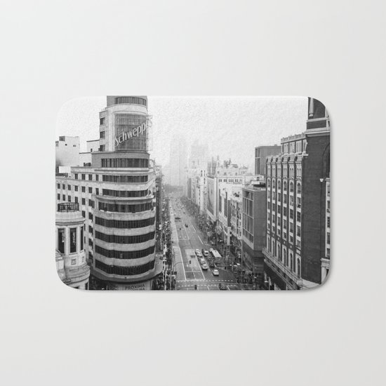 Gran Via in Madrid Bath Mat