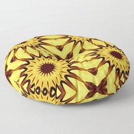 Sunflowers Yellow & Brown Pinwheel Flowers Floor Pillow