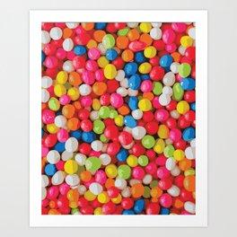 Kitschy Gumball Candy Pattern Art Print