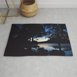 Silhouettes: Dawn on Lake George Rug