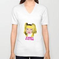 spice girls V-neck T-shirts featuring Spice World - Emma Baby Spice by Binge Designs Homeware