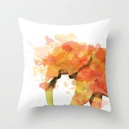 Positive elephant Throw Pillow