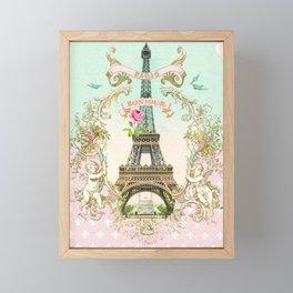 Bonjour Paris Framed Mini Art Print