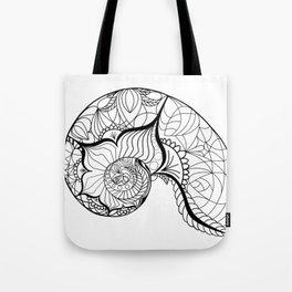 Nautilus Mandala Tote Bag