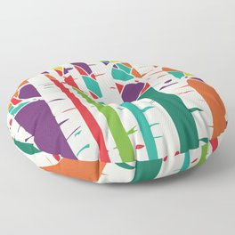 Whimsical birch forest Floor Pillow