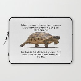 When A Tortoise Embarks On A Journey African Proverb Laptop Sleeve