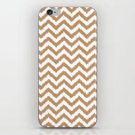 Gold Ikat Chevron Zigzag Pattern iPhone Skin