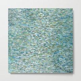 Blue Raindrops Juul art Metal Print