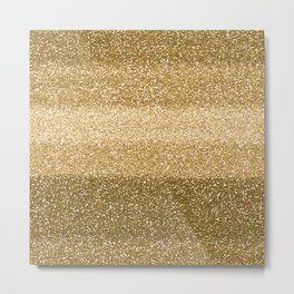 Glitter Glittery Copper Bronze Gold Metal Print