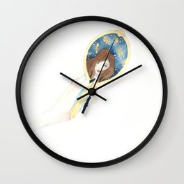 Disappearing Past Self Wall Clock