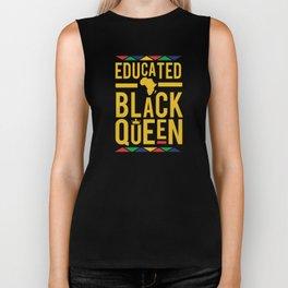 Educated black queen crown Biker Tank