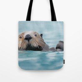 Swimming Otter Tote Bag