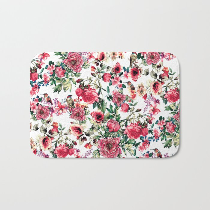 Flowers & Birds III Bath Mat