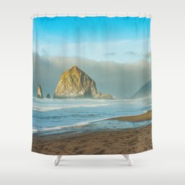 Cannon Beach Oregon, Haystack Rock Shower Curtain