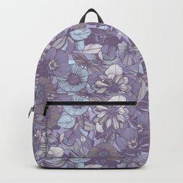 Hellebore lineart florals | soft winter Backpack