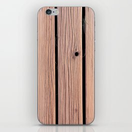 Wood Planks Wall iPhone Skin