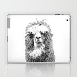 Black and White Alpaca Laptop & iPad Skin