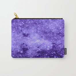 Lavender Galaxy Sparkle Stars Carry-All Pouch