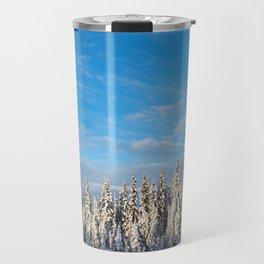 Spruce After Snow Storm Color Travel Mug