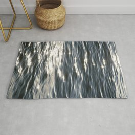 Blue Sea Sparkle | Photography Landscape | Water | Minimal Art Rug