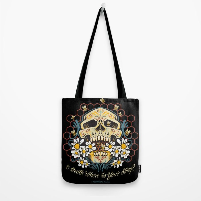 O death where is your sting? Tote Bag