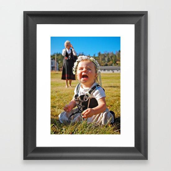 Happy baby Framed Art Print